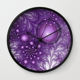 A mysterious Place abstract Fractal Art Wall Clock