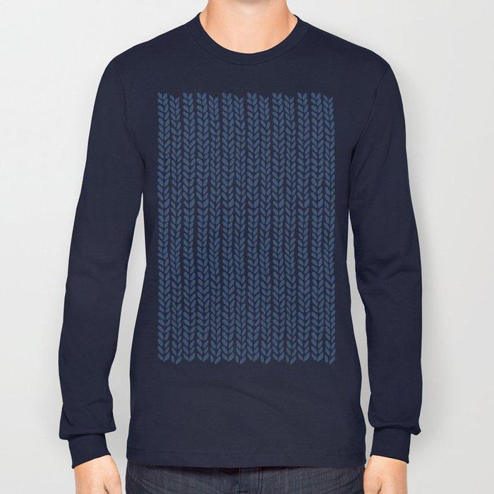 Knit Wave Navy Long Sleeve T-shirt