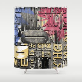 The forgotten Word Shower Curtain