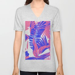 Tropical Palm Springs Unisex V-Neck