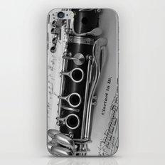 B Flat Clarinet in Black & White iPhone & iPod Skin