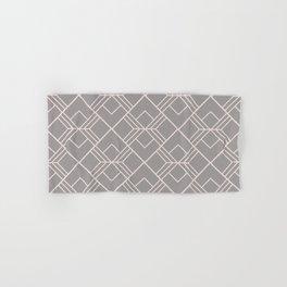 Modern geometry gray blush pink abstract pattern Hand & Bath Towel