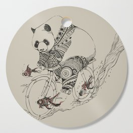 Panda and Follow Fish Cutting Board