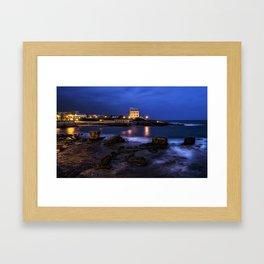 Alghero blue hour Framed Art Print
