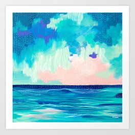 Abstract Seascape X Art Print