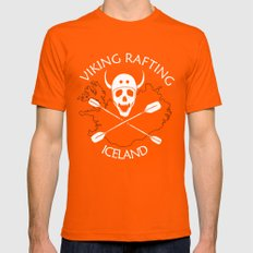 Viking Rafting Iceland Orange Mens Fitted Tee SMALL