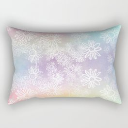 Raining Flowers Rectangular Pillow