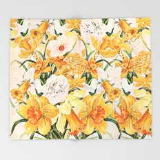 Wordsworth  and daffodils. Throw Blanket