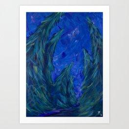 Curious Conifers Art Print