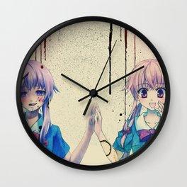 schizo-gasai Wall Clock