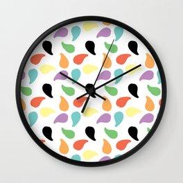 Paisley Jelly Beans Wall Clock