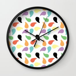 Paisley Jelly Beans Wall Clock