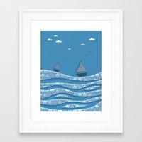 boats Framed Art Prints featuring Boats by Matt Andrews
