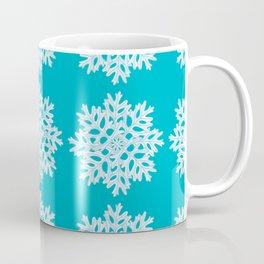 Dusty Miller Snowflake Pattern Coffee Mug