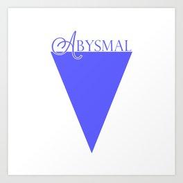 Abysmal: Purple/Blue Art Print