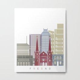Fresno V2 skyline poster Metal Print