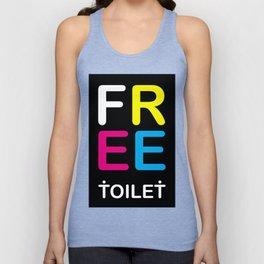 TOILET CLUB #free Unisex Tank Top