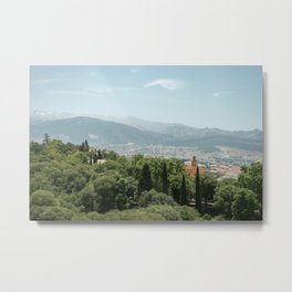 Landscape in the Alhambra Metal Print