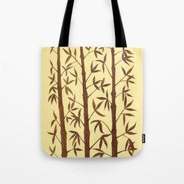 Gold Bamboo Trees Tote Bag