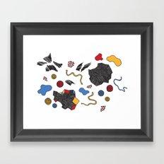 doodle conversation Framed Art Print