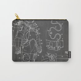 Nasa Apollo Spacesuite Patent - Nasa Astronaut Art - Black Chalkboard Carry-All Pouch