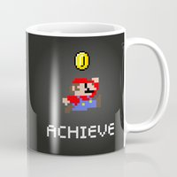 mario bros Mugs featuring Mario by eARTh