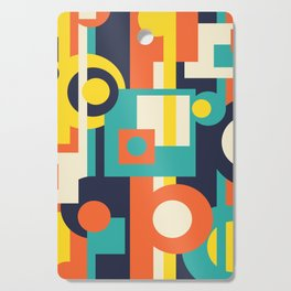 Funky Geometry (Modern Vibrant Color Palette) Cutting Board