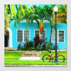 #side street still life miami Canvas Print
