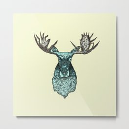 deer in the headlights Metal Print