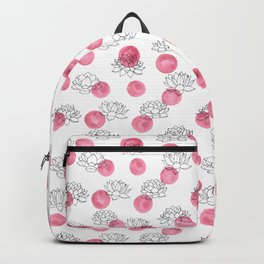 Water Lilies on Watercolor Circles Backpack