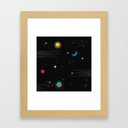 Deep Space Framed Art Print