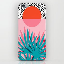 Whoa - palm sunrise southwest california palm beach sun city los angeles retro palm springs resort  iPhone Skin