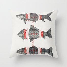 Sashimi All Throw Pillow