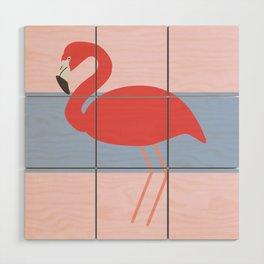 Flamingo -the pink lady Wood Wall Art