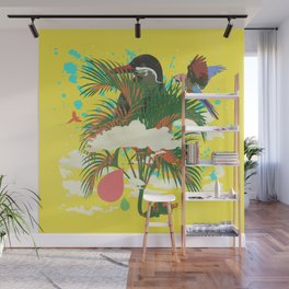 ELECTRIC JUNGLE Wall Mural