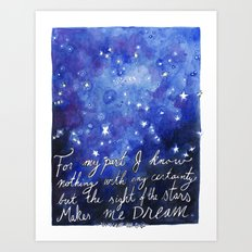 The Sight of the Stars Art Print
