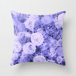 bouquet ver.blue-b Throw Pillow