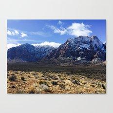 Snow on the Mountains Canvas Print
