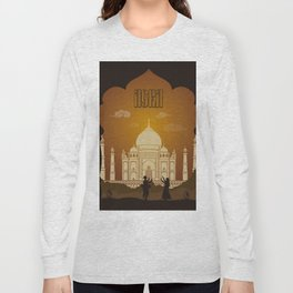 Agra vintage poster travel Long Sleeve T-shirt