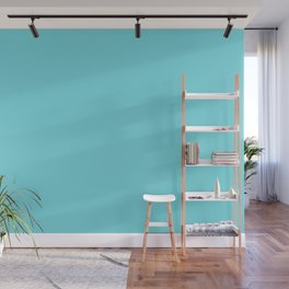 From The Crayon Box – Turquoise Blue - Bright Blue Solid Color Wall Mural