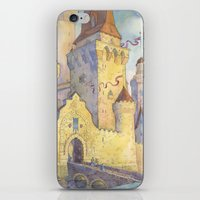 castle iPhone & iPod Skins featuring Castle by Kasheva