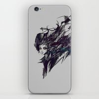 raven iPhone & iPod Skins featuring Raven by Ryky