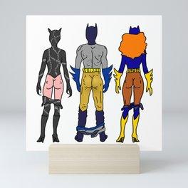 Superhero Butts Love 7 - Cat Bats Mini Art Print