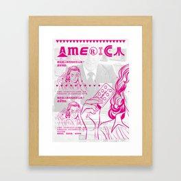 KureAll 300mg America (Magenta) Framed Art Print