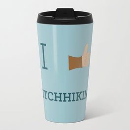 I heart Hitchhiking Travel Mug