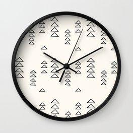 Minimalist Triangle Line Drawing Wall Clock