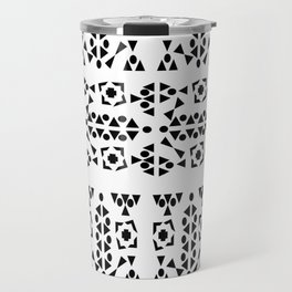Black and White Aztec Travel Mug