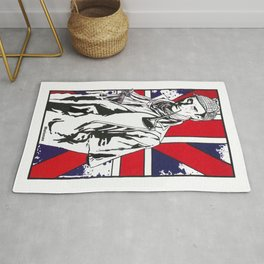 Hail Britannia /  Private Detective by Peter Melonas Rug