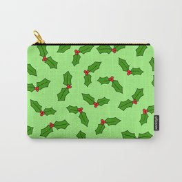 Green Holly Carry-All Pouch