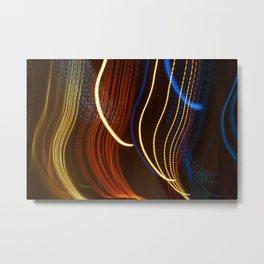 Moving Lights At Night I Metal Print